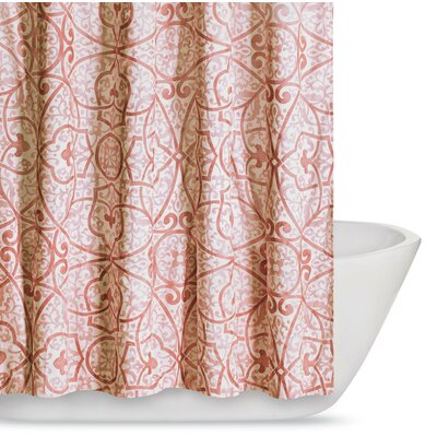 Crowders Shower Curtain Color: Coral