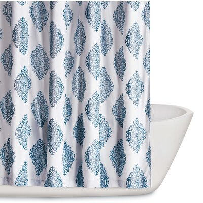 Trevon Shower Curtain Color: Navy