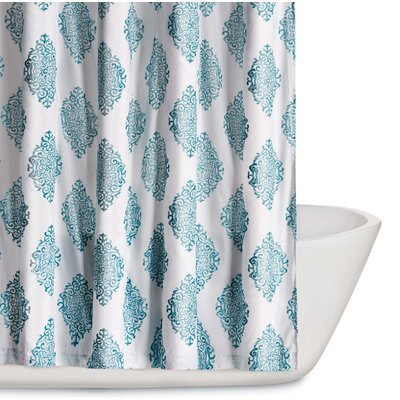 Trevon Shower Curtain Color: Teal