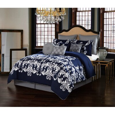 Dolce Vita 10 Piece Comforter Set Size: Queen