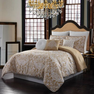 Heritage 10 Piece Comforter Set Size: King