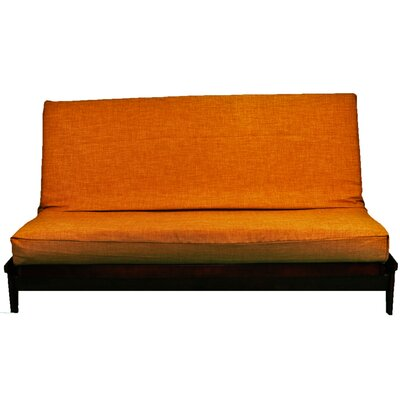 Medley Polyester Futon Slipcover Size: Large, Upholstery: Tangelo