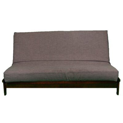 Medley Box Cushion Futon Slipcover Size: Queen, Upholstery: Plum