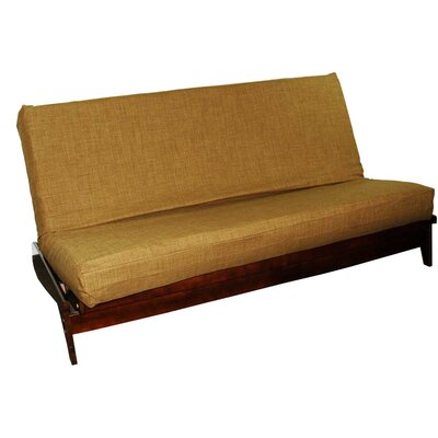 Medley Box Cushion Futon Slipcover Size: Queen, Upholstery: Chocolate