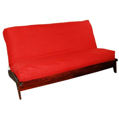 Medley Box Cushion Futon Slipcover Size: Queen, Upholstery: Red