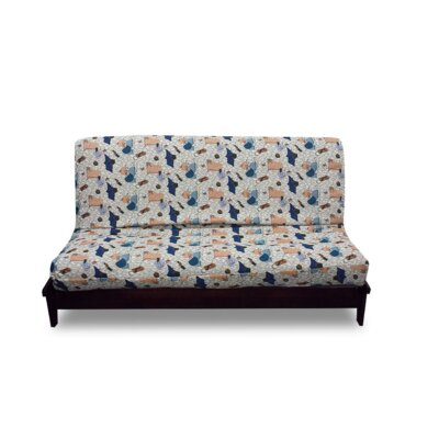 Thompkins Heavy Texture Box Cushion Futon Slipcover Upholstery: 108