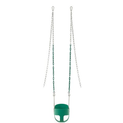 Vinyl Coated Chain Full Bucket Toddler and Baby Swing Color: Green SWBSC-GN
