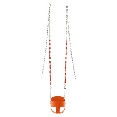 Vinyl Coated Chain Full Bucket Toddler and Baby Swing Color: Orange SWBSC-OR