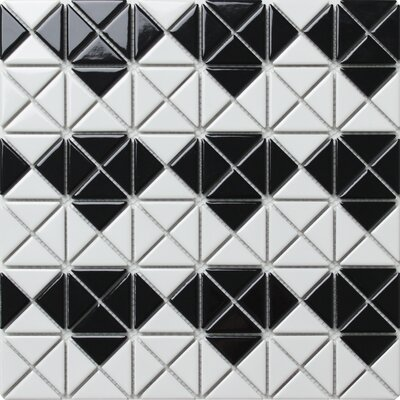Multi Diamond Series 1.58 x 1.16 Porcelain Mosaic Tile in Glossy