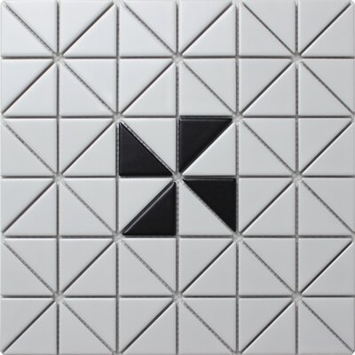 Single Windmill Series 2.33 x 1.66 Porcelain Mosaic Tile in Matte