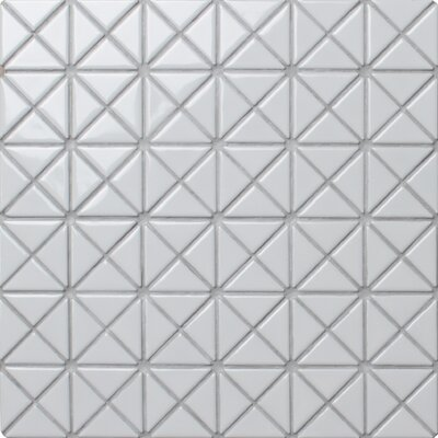 Single Color Series 1.58 x 1.16 Porcelain Mosaic Tile in Glossy White