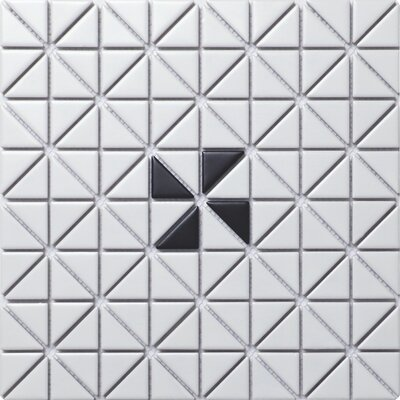 Single Windmill Series 1.58 x 1.16 Porcelain Mosaic Tile in Matte