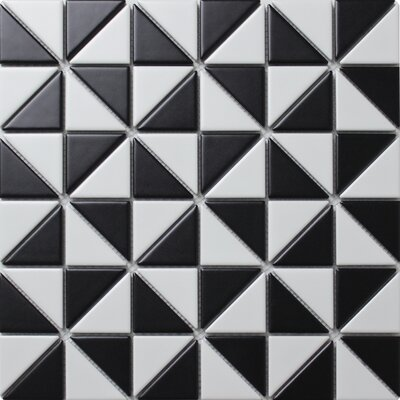 Multi Windmill Series 2.33 x 1.66 Porcelain Mosaic Tile in Matte