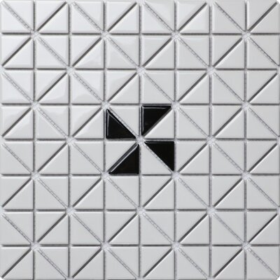 Single Windmill Series 1.58 x 1.16 Porcelain Mosaic Tile in Glossy