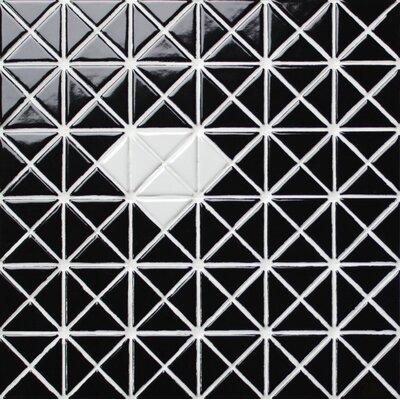 Single Diamond Series 1.58 x 1.16 Porcelain Mosaic Tile in Glossy White