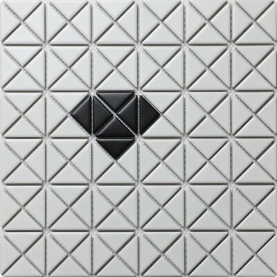 Single Diamond Series 1.58 x 1.16 Porcelain Mosaic Tile in Matte Black