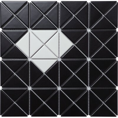 Single Diamond Series 2.33 x 1.66 Porcelain Mosiac Tile in Matte White