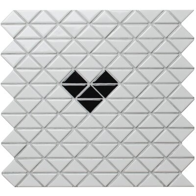 Single Heart Series 1.58 x 1.16 Porcelain Mosaic Tile in Glossy