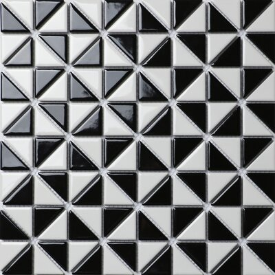Multi Windmill Series 1.58 x 1.16 Porcelain Mosaic Tile in Glossy