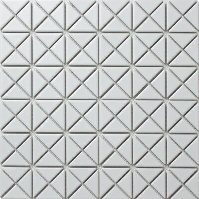 Single Color Series 1.58 x 1.16 Porcelain Mosaic Tile in Matte White