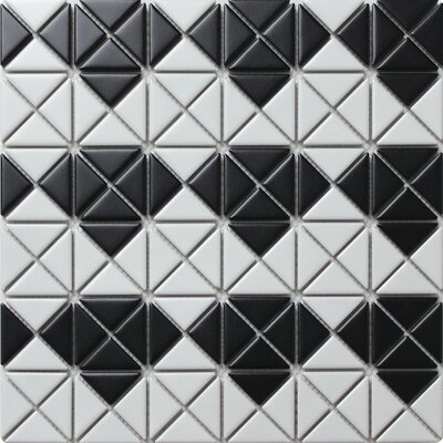 Multi Diamond Series 1.58 x 1.16 Porcelain Mosaic Tile in Matte