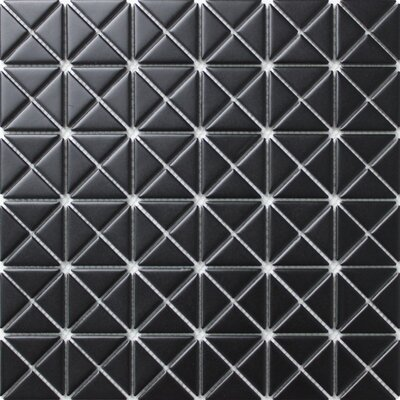 Single Color Series 1.58 x 1.16 Porcelain Mosaic Tile in Matte Black