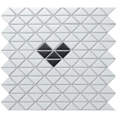 Single Heart Series 1.58 x 1.16 Porcelain Mosaic Tile in Matte