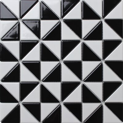 Multi Windmill Series 2.33 x 1.66 Porcelain Mosaic Tile in Glossy