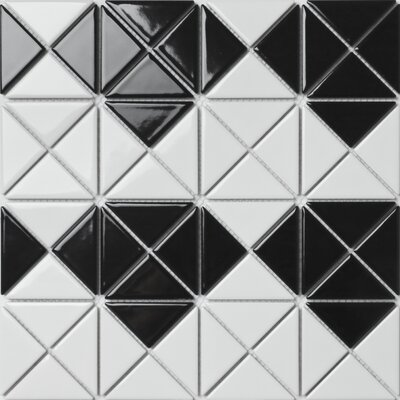 Multi Diamond Series 2.33 x 1.66 Porcelain Mosaic Tile in Glossy