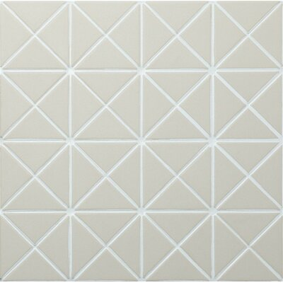 Unglazed Triangle 1 x 2 Porcelain Mosaic Tile in White