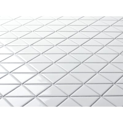 Zip Connection 10.28 x 10.12 Porcelain Mosaic Tile in White