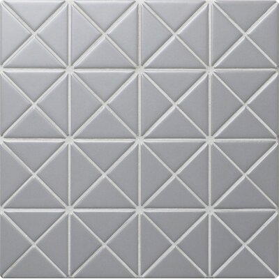 Triangle 10.2 x 10.2 Porcelain Mosaic Tile in Gray