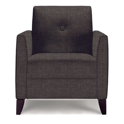 Julie Lounge Chair Upholstery: Graphite Cover Cloth, Finish: Medium Cherry