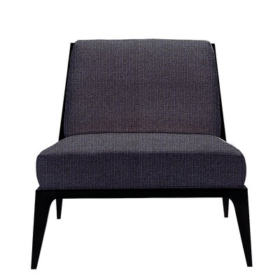 Lolita Slipper Chair Seat Color: Indigo Solace, Finish: Walnut