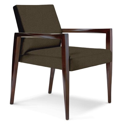 Freedom Armchair Upholstery: Ivory Solace, Finish: Walnut