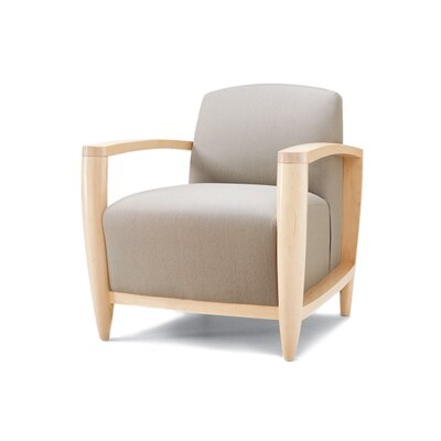 Gower Lounge Chair Upholstery: Light Brown Propensity II, Finish: Light Maple