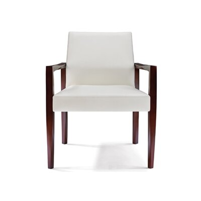 Freedom Armchair Upholstery: Summer White Canter, Finish: Medium Cherry