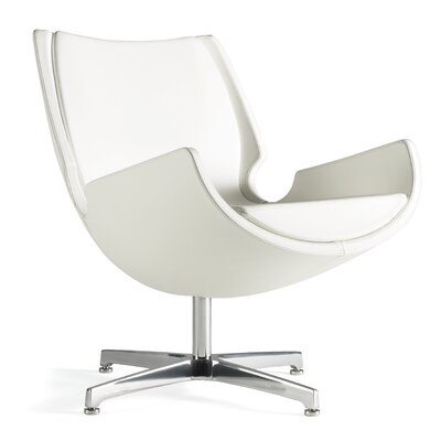 OSally Lounge Chair Seat Color: Ivory Solace