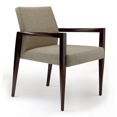 Freedom Armchair Finish: Medium Cherry, Seat Color: Platinum Cover Cloth