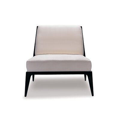 Lolita Slipper Chair Upholstery: Summer White Canter, Finish: Macassar