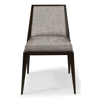 Lolita Side Chair Upholstery: Summer White Canter, Finish: Walnut