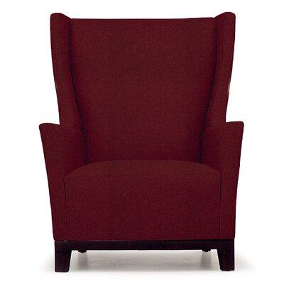 Aspen Lounge Chair Finish: Walnut, Seat Color: Ivory Solace