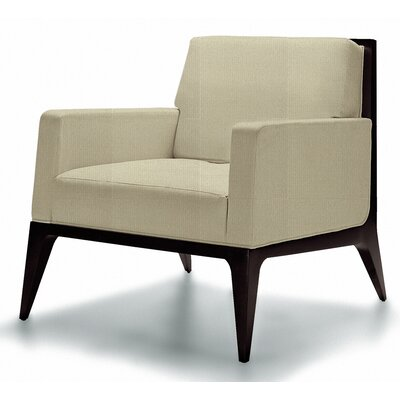 Lolita Solance Lounge Chair Finish: Walnut, Seat Color: Summer White Canter