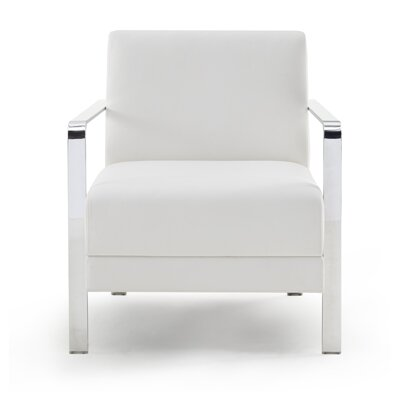 Cricket Lounge Chair Seat Color: Ivory Solace