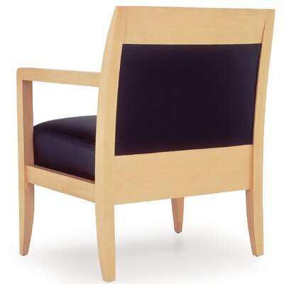 Aussie Lounge Chair Upholstery: Sangria Propensity II, Finish: Light Maple
