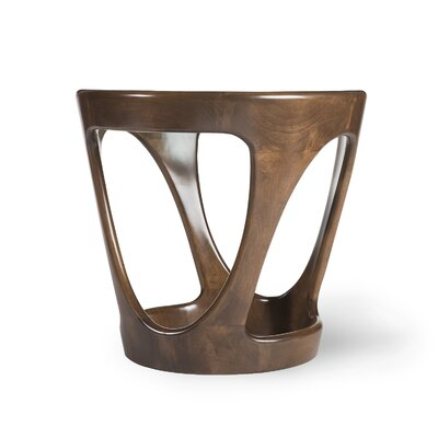 Flo Round Wood Top End Table