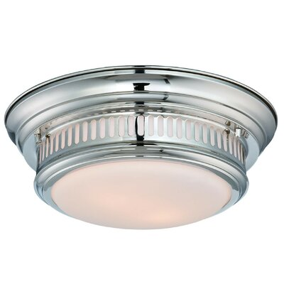 Wallach 2-Light Flush Mount Finish: Polished Nickel