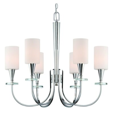 Dominesey 6-Light Shaded Chandelier Finish: Burnished Bronze