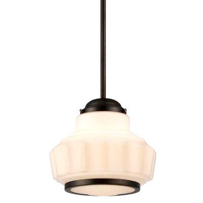 Roxbury 1-Light Shoolhouse Pendant Size: Small