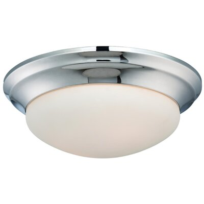 Pouliot 1-Light Flush Mount Finish: Polished Nickel